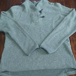 North Face green pullover sweater